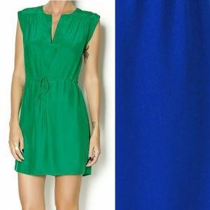 Amanda Uprichard Indigo Blue Silk Dress Sz MP